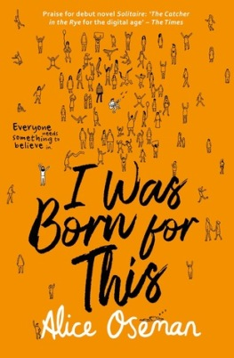 I Was Born For This by Alice Oseman book cover